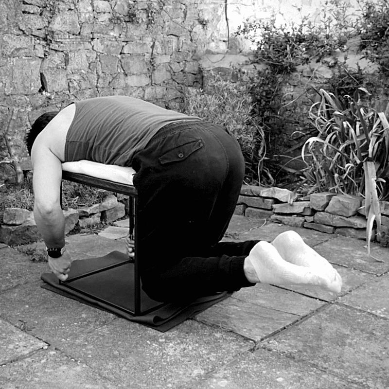 Reverse hyper lower back exercise
