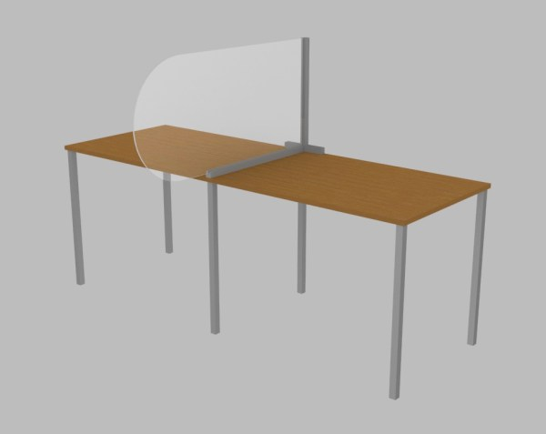Single desk top screen / divider panel