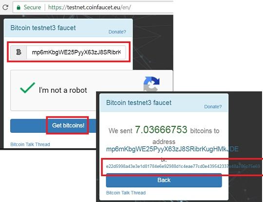 receive test bitcoin from testnet coinfaucet eu