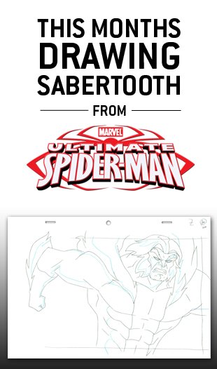 Enter the Drawing Drawing. This months Marvel Artwork is from Ultimate Spider-man Episode 9