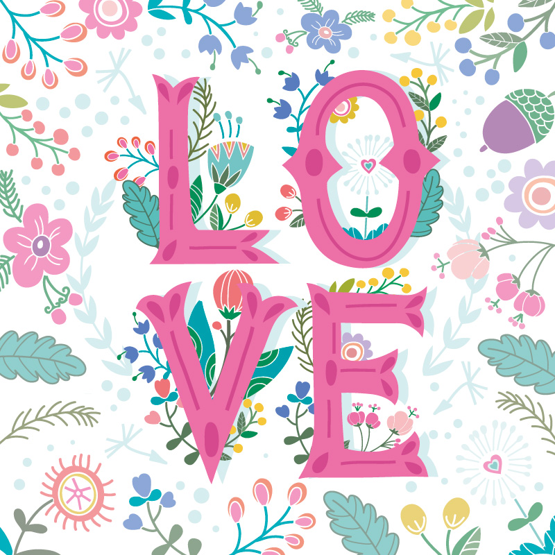 Love_floral_background_white