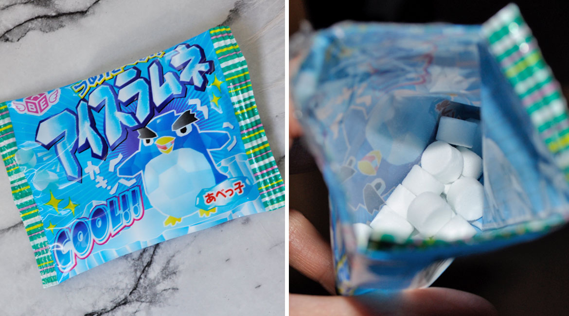 Ice shaped ramune candies that will freeze your tongue!