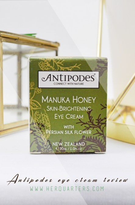 Manuka Honey Skin-Brightening Eye Cream Review