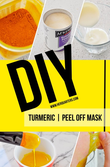 Turmeric Peel Off Mask Pinterest