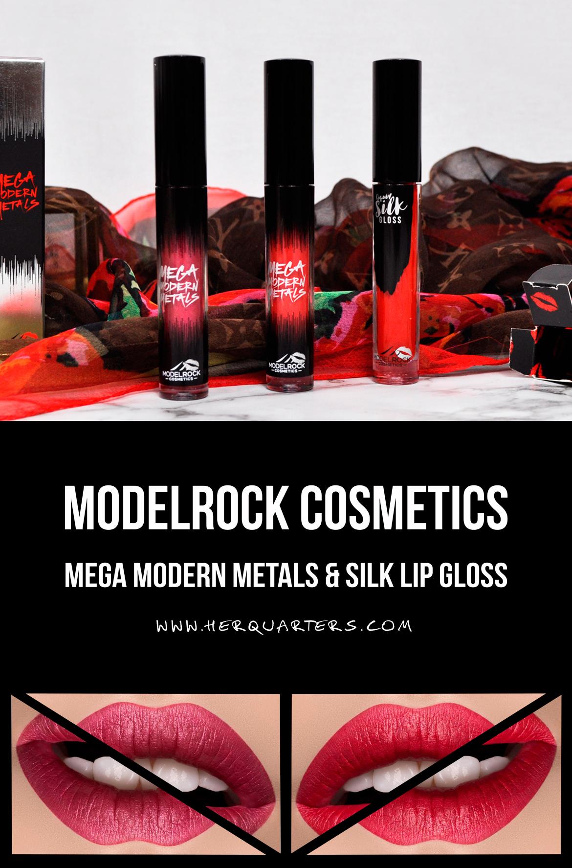 ModelRock Lipgloss Mega Modern Metals Lipsticks