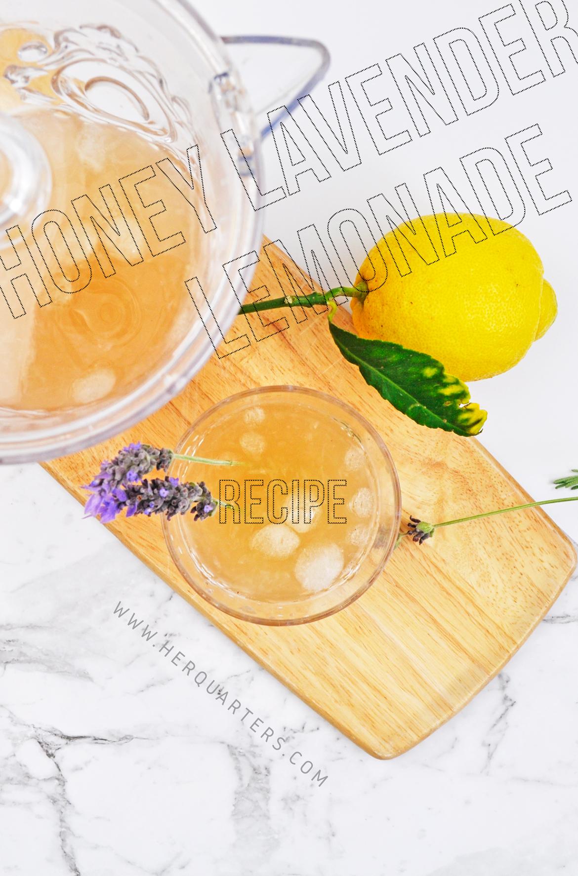 Honey Lavender Lemonade Pinterest