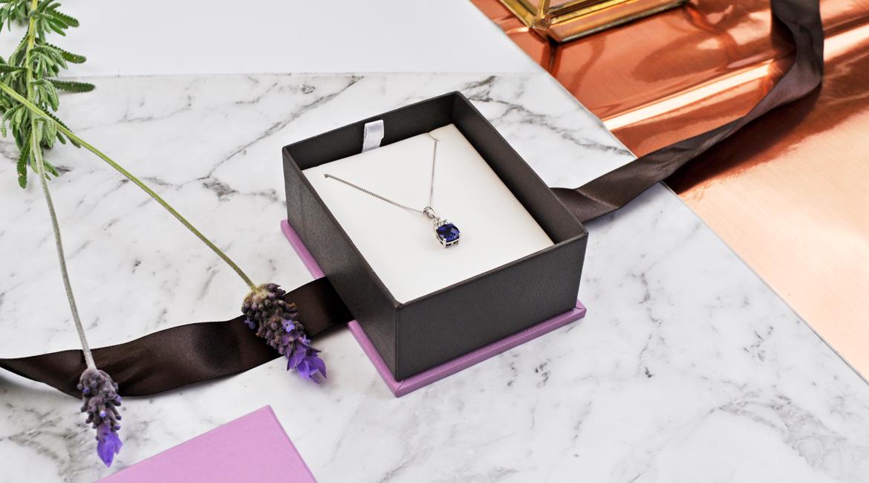 Michael Hill Sapphire Pendant Silver Necklace