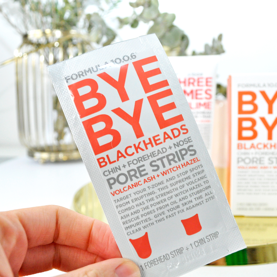 Formula 10.0.6 Bye Bye Blackheads Chin + Forehead + Nose Pore Strips