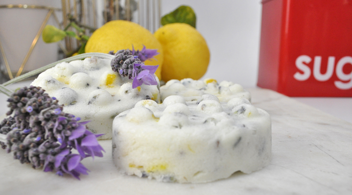 Lavender and Lemon Sugar Scrub Bars