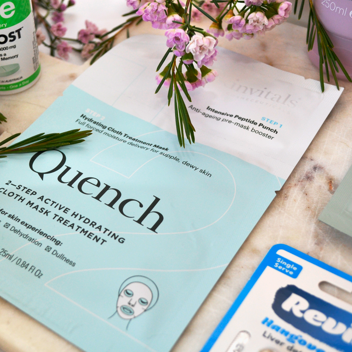 Quench 2–Step Hydrating Cloth Mask Treatment