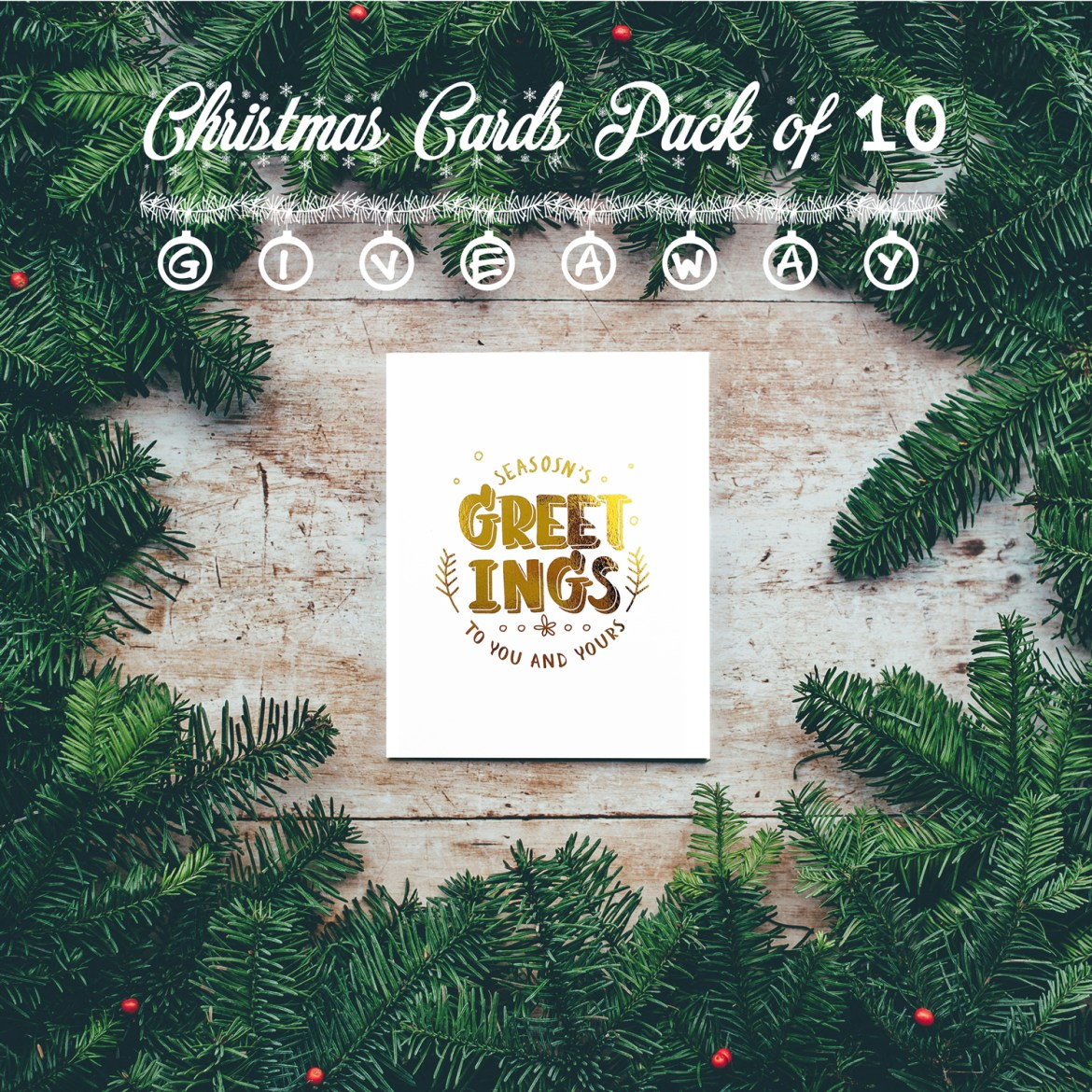 Gold Foil Christmas Cards Giveaway