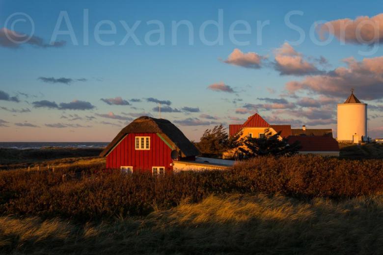 Løkken dunes and water tower