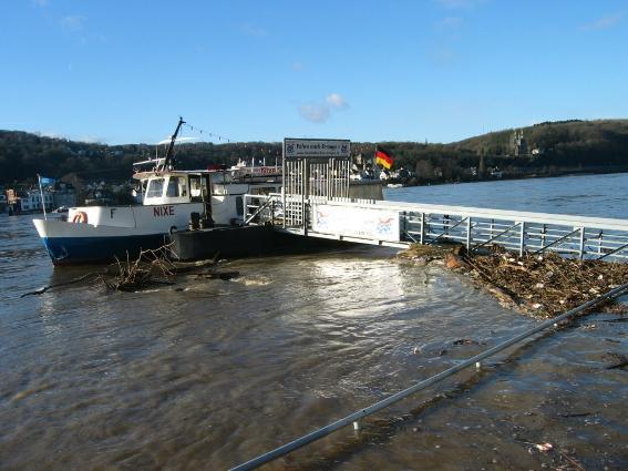 Stilllegung der Nixe wegen Hochwassers