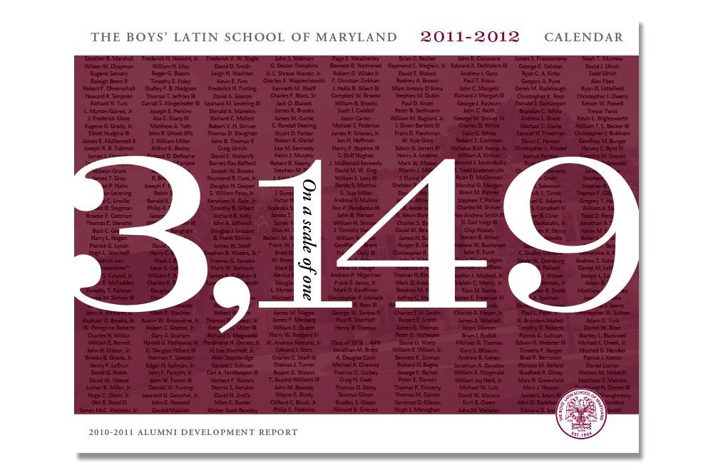 2012 BLS Calendar Cover