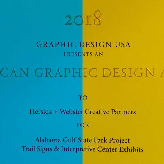 2018 American Graphic Design Awards Certificate