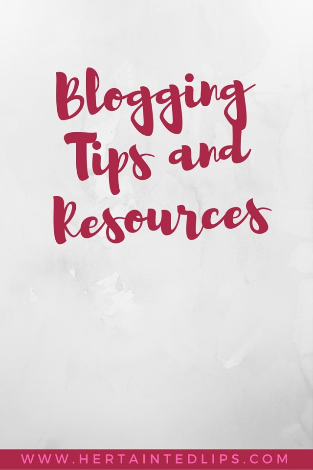 blogging tips and resources