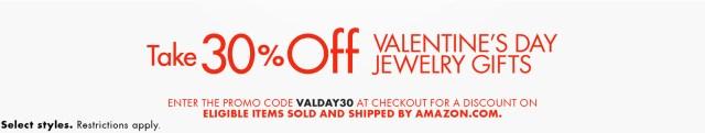 30 off amazon valentines day jewelry sale
