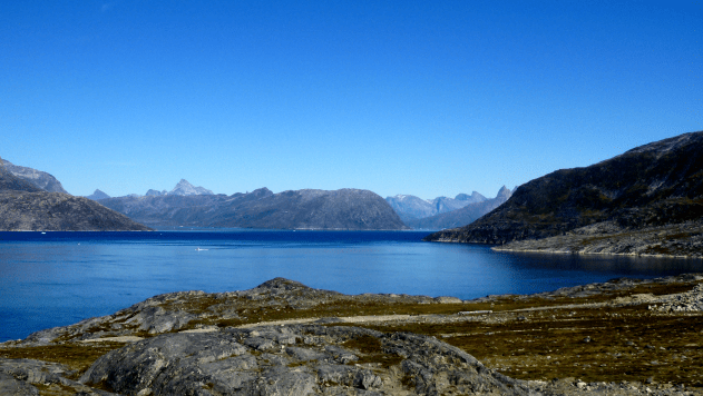 Pictue of fjord at Small Marlene Mountain