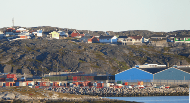 Picture looking at Nuuk