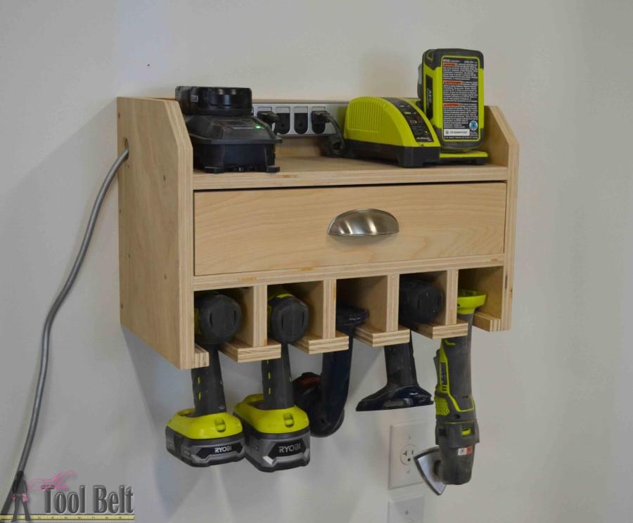cordless drill storage charging