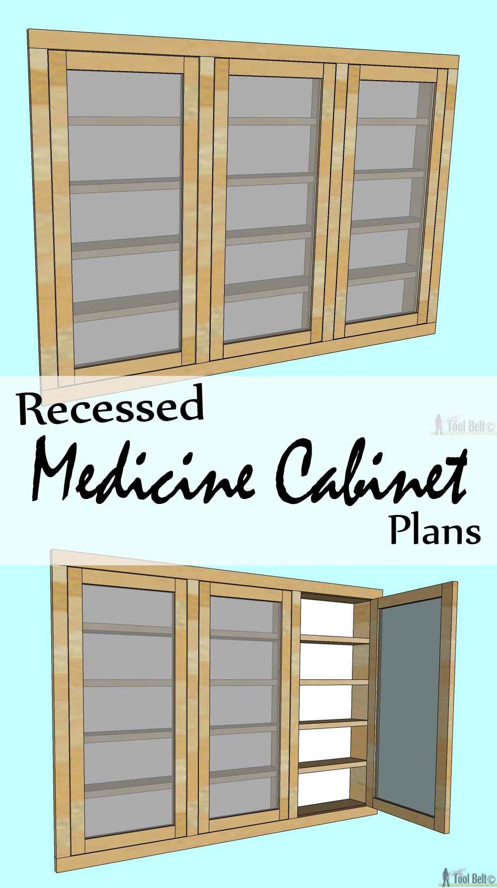 Recessed Cabinet Plans Medicine