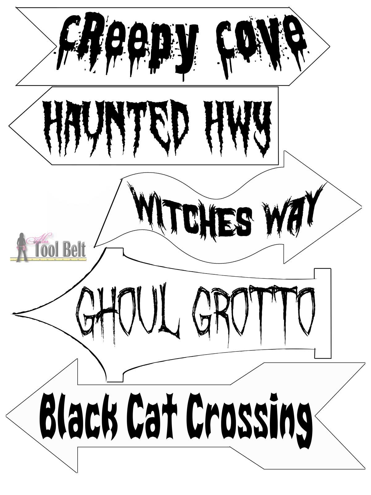 Diy Halloween Direction Sign
