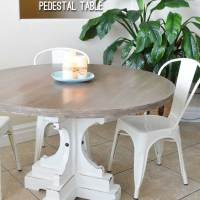 Farmhouse Style Round Pedestal Table