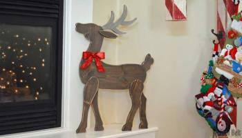 Diy santa sleigh her tool belt diy wood reindeer solutioingenieria Choice Image