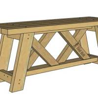 Build an Easy 2x4 Double X Bench