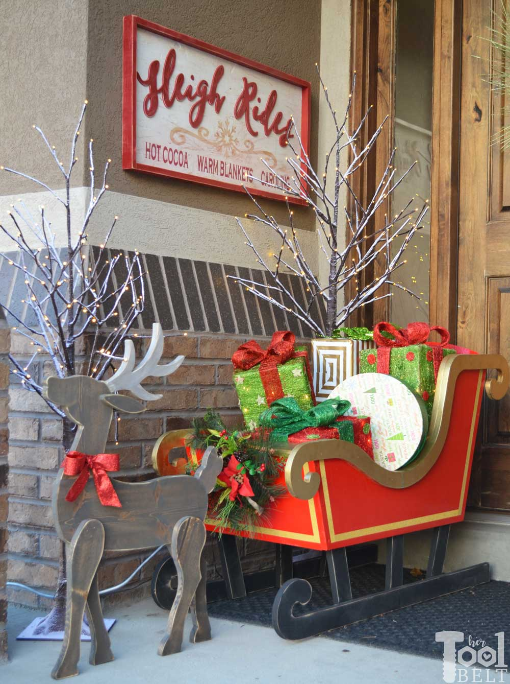 Sleigh Rides Wood Sign Her Tool Belt