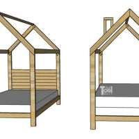 House Frame Bed - Full Size