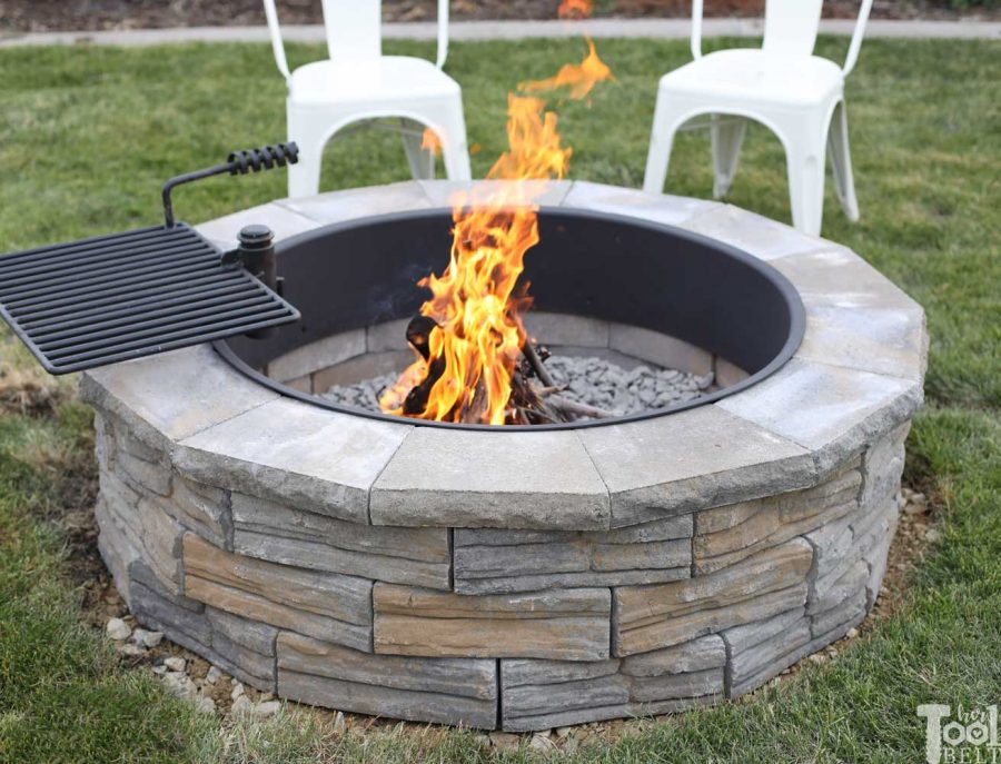 DIY Backyard Fire Pit - Her Tool Belt on Fireplace In Yard id=65718