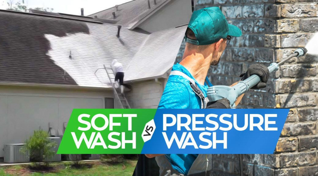 soft washing vs pressure washing