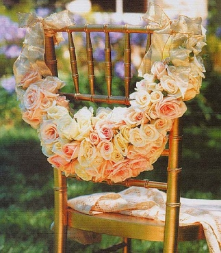 Wedding chair flower decor
