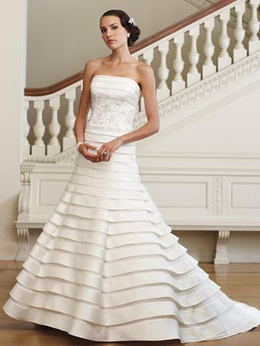 layered wedding dress, Mon Cheri