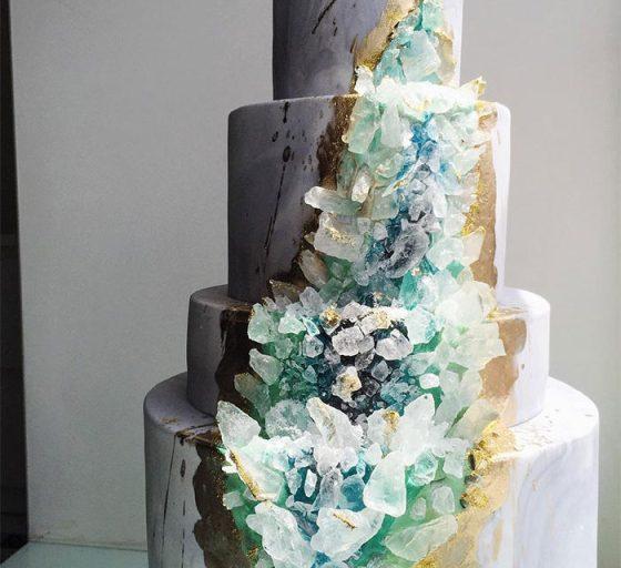 geode wedding cake 7