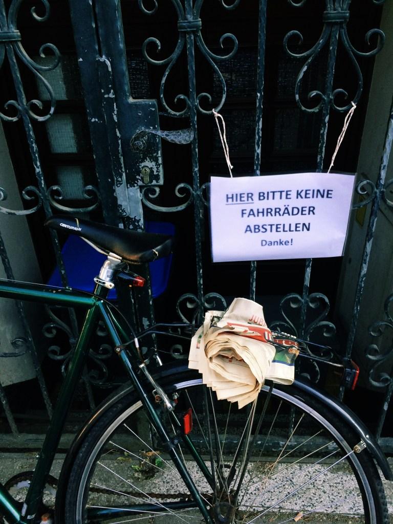 Illegal gepartkes Fahrrad
