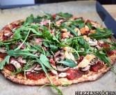 Low Carb Thunfisch Pizza mit Hüttenkäse