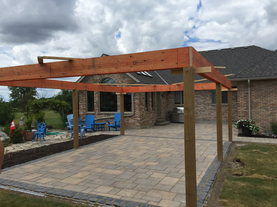 large freestanding covered patio