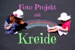Kreide Fotos mit Kindern