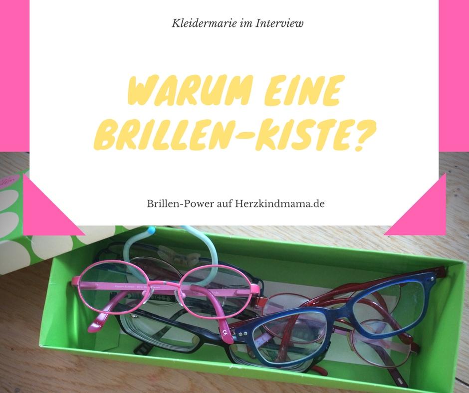 Brille für die Kiste