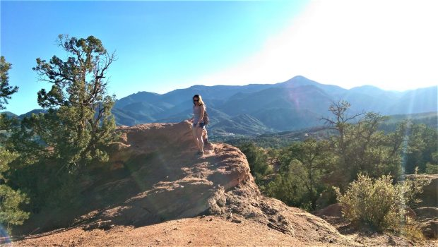 Garden of the Gods with Pikes Peak View