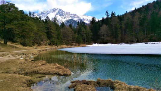 Lautersee and Karwendel mountain