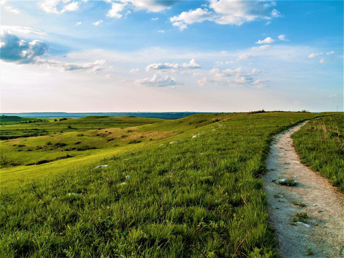 Konza Prairie trail in Kansas