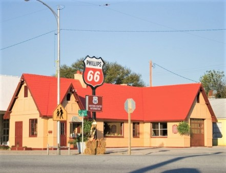 Route 66 service station in Kansas (credit: Baxter Springs museum)