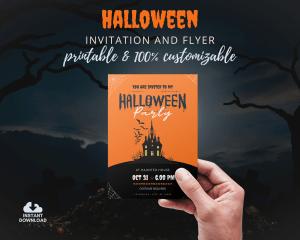 Halloween Invitation Template Teaser
