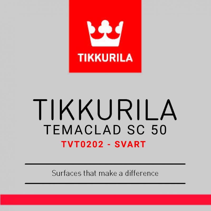 Temaclad SC 50 TVT0202- Svart 8,1L