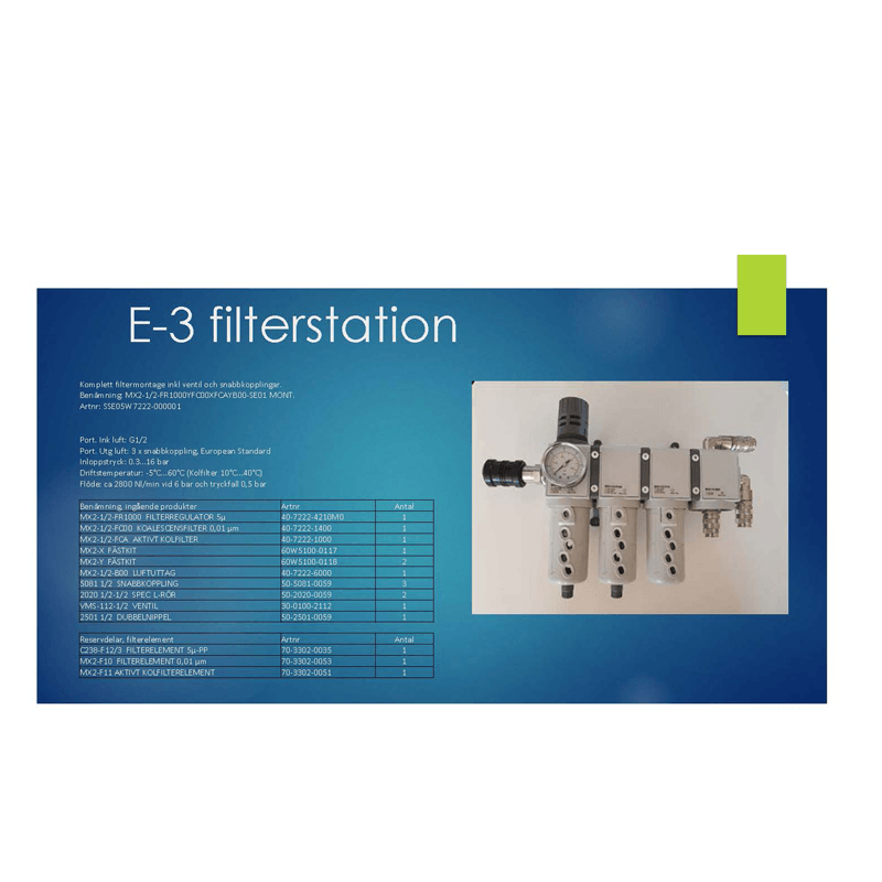 E-3 Filterstation