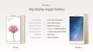 Phone with the biggest battery 5300 mAh new Xiomi Mi Max 2
