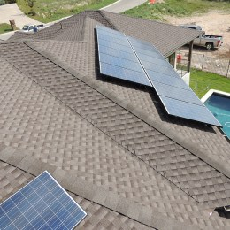 east facing solar panels